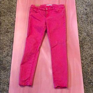 ZARA Mid Rise Pink Skinny Jeans